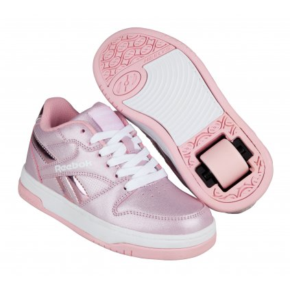 Heelys X Reebok - BB4500 Low - White/Classic Pink/ Sparkle - koloboty