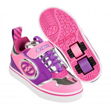 Heelys - Rocket X2 - Pink/Silver/Purple - koloboty