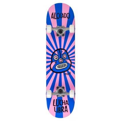 ENU2525 ENU2575 Enuff Skateboards Lucha Libre Pink Blue Main