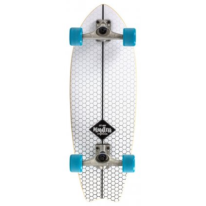 Mindless - Surf Skate Fish Tail White