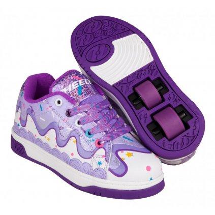 Heelys - X2 Dual Up Purple/CakeFrosting