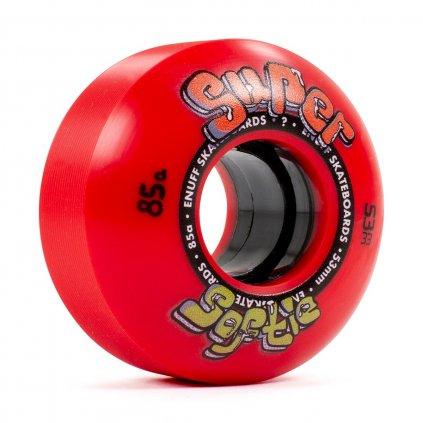 ENU540 Enuff Skateboards Super Softie Wheels Red 53mm Angle