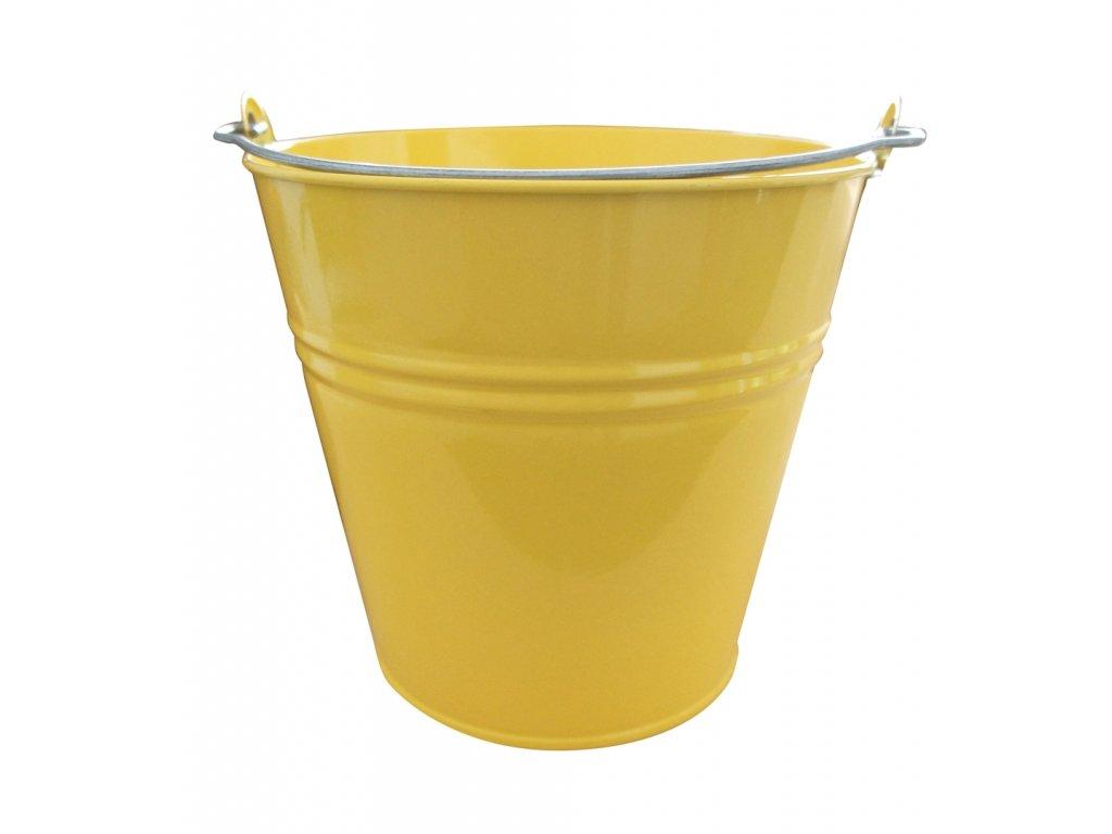 vědro 5l lakované žluté
