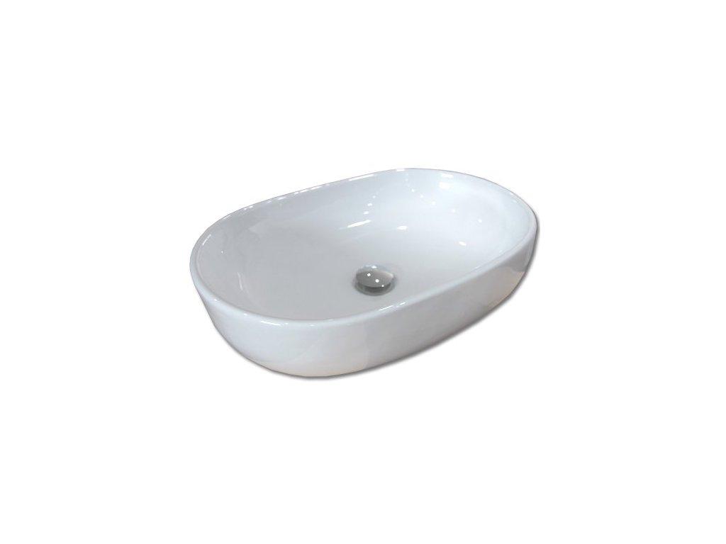 Maxwhite FORLI 8125 Umyvadlo keramické oválné na desku, bílé