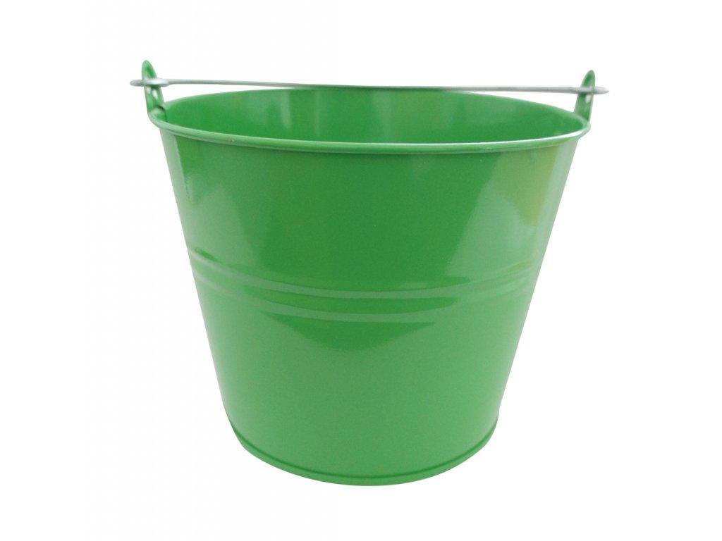 vědro 5l lakované zelené