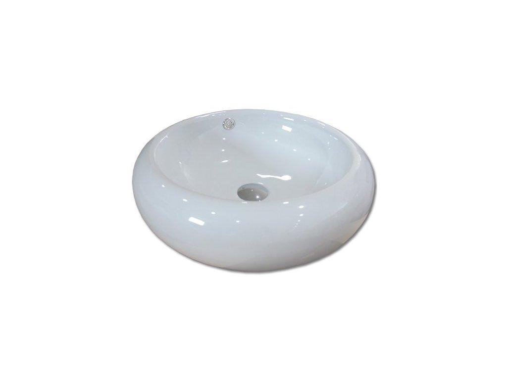 Maxwhite BRESCIA 8008 Umyvadlo keramické kulaté na desku, bílé