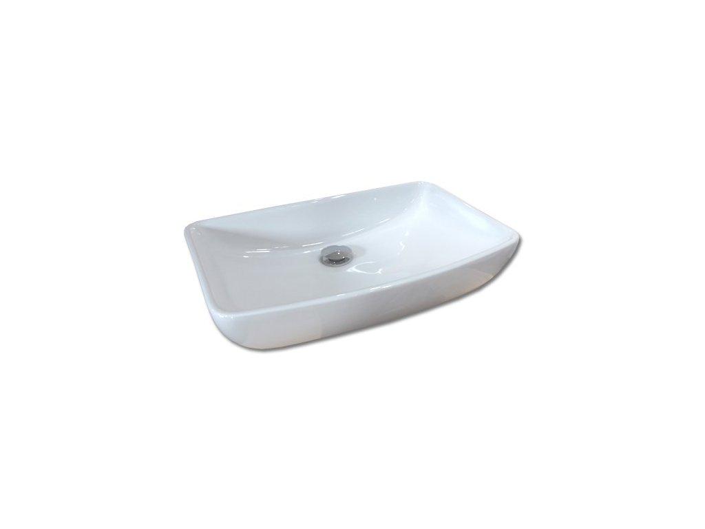 Maxwhite CAORLE 8095B Umyvadlo keramické obdelníkové na desku, bílé