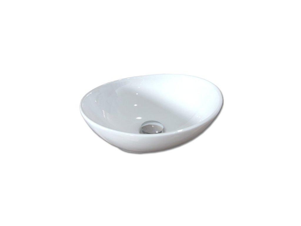 Maxwhite CORNO 8002 Keramické umyvadlo oválné na desku, bílé