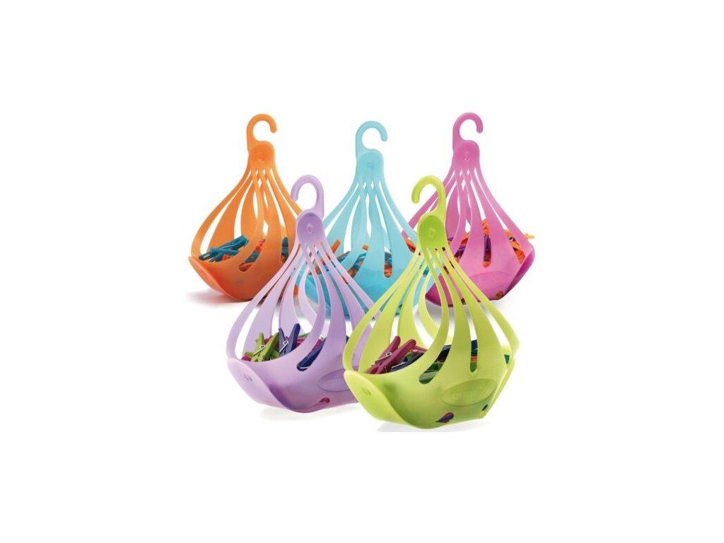 Gimi Cigno košík kolíčky na prádlo 16ks, mix barev