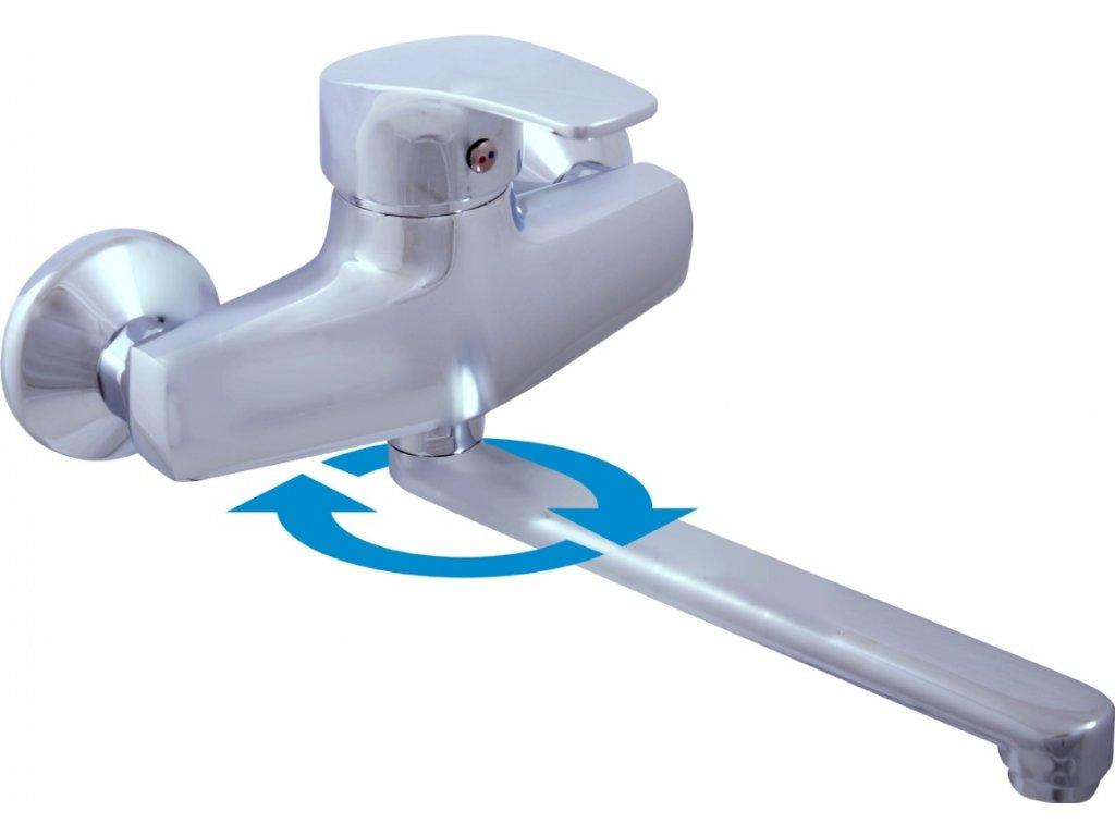 Vodovodní baterie dřezová/umyvadlová Slezák RAV Kongo K001/23 K001.5/23 - rozteč 150 mm, chrom