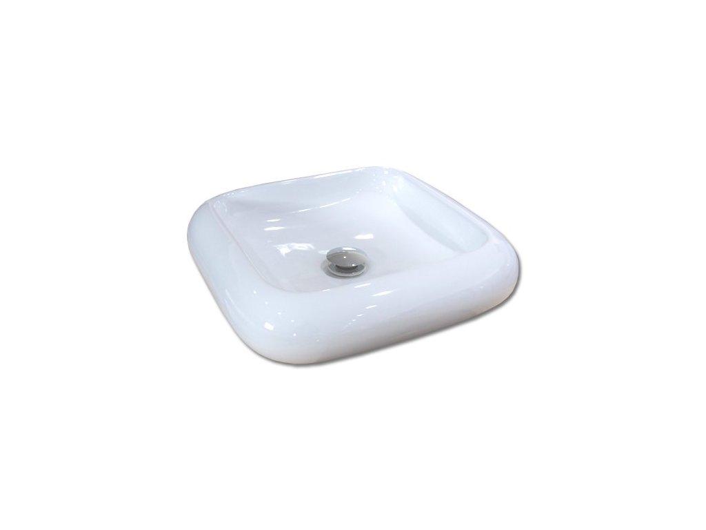 Maxwhite ST STINO 8069 Umyvadlo keramické hranaté na desku, bílé