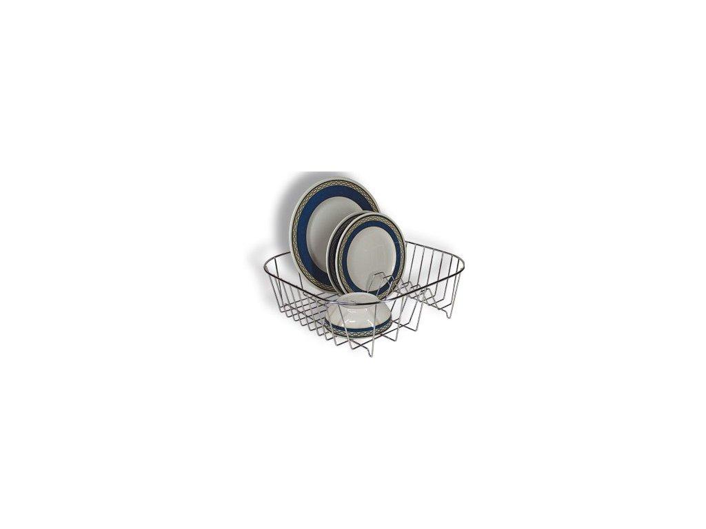 HUKA EST 1400 odkapávač na nádobí, chrom, 34x34x11cm
