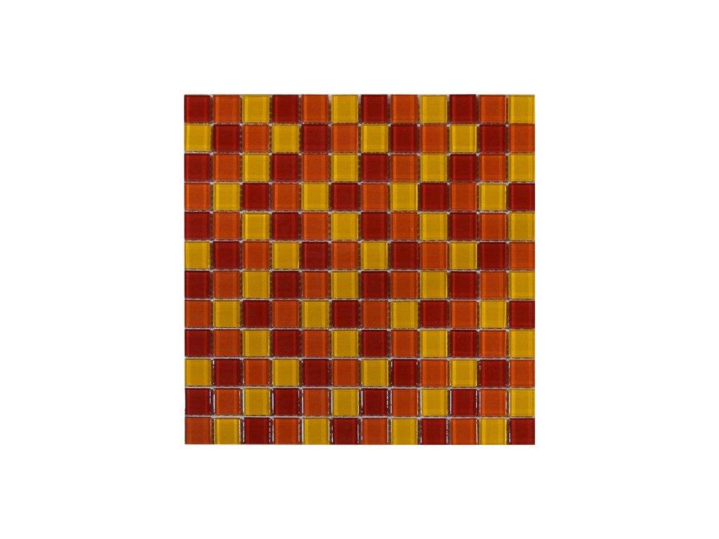 Maxwhite ASHS202 Mozaika skleněná červená žlutá oranžová 29,7x29,7cm