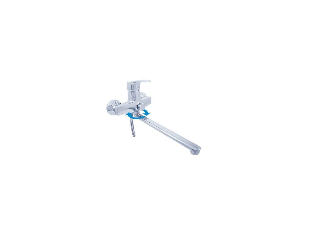 Vodovodní baterie pro vanu a umyvadlo Slezák RAV Kongo K053.5 chrom