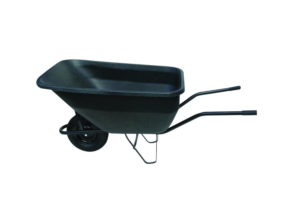 JAD Kolečko hospodářské 180 l nafukovací plastová korba černá 100 kg