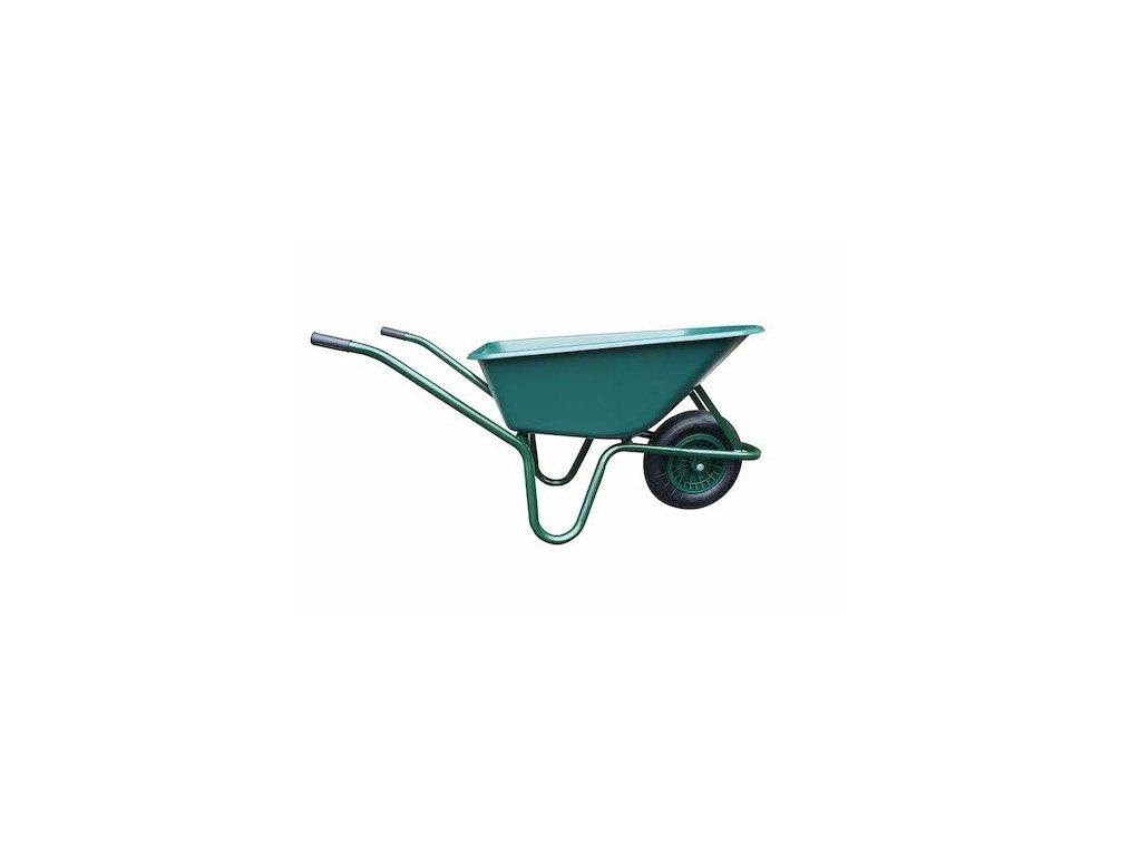 Kolečko LIVEX 100 l, kolo nafukovací, smontované - plastová korba zelená, nosnost 100 kg