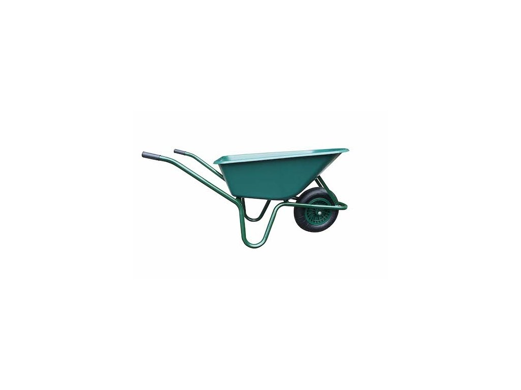 LIVEX 11906 Kolečko 100 l nafukovací, plastová korba 100 kg, zelené