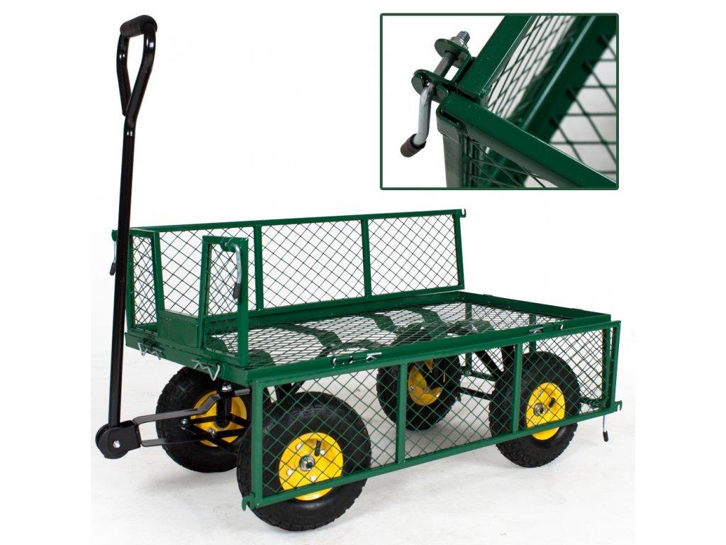 J.A.D. Tools 11990 Vozík zahradní 300 s výklopnými bočnicemi