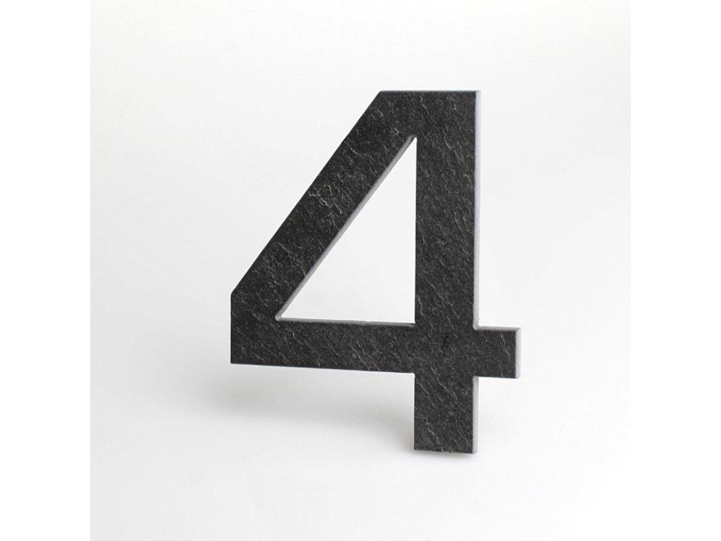 KATEON DCBCE04 Euromode 4 Domovní číslo popisné, břidlice