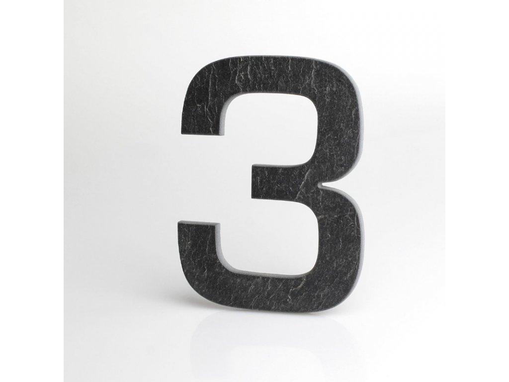 KATEON DCBCE03 Euromode 3 Domovní číslo popisné, břidlice
