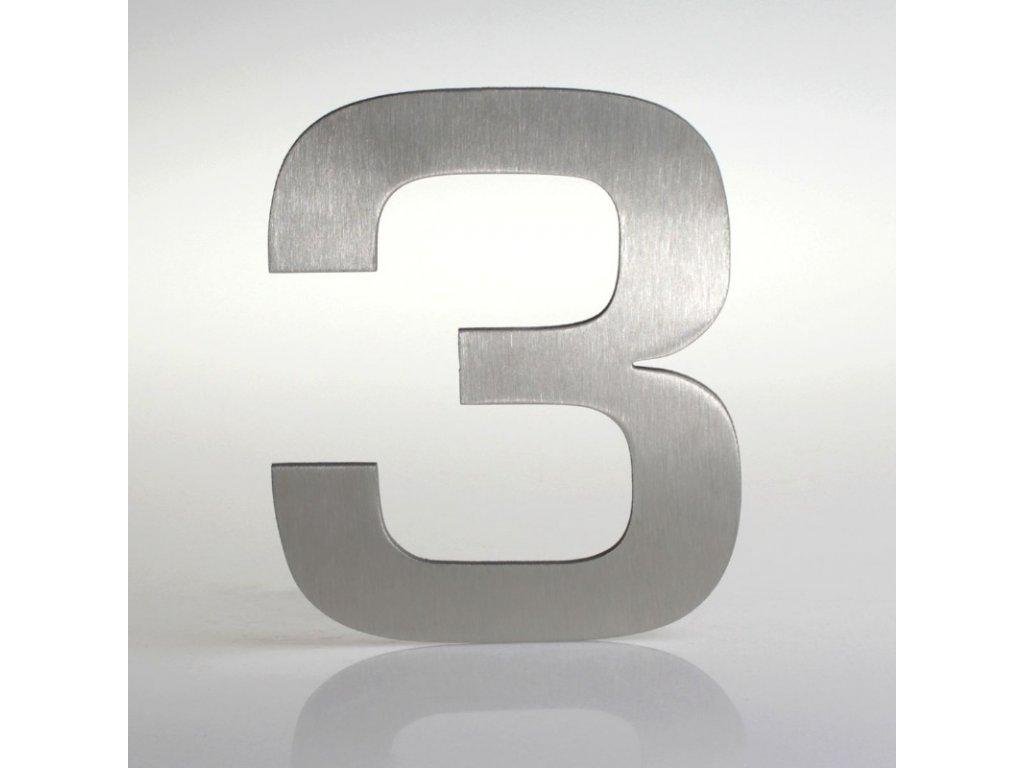 KATEON DCN2KE03 Euromode 3 Domovní číslo popisné, nerez