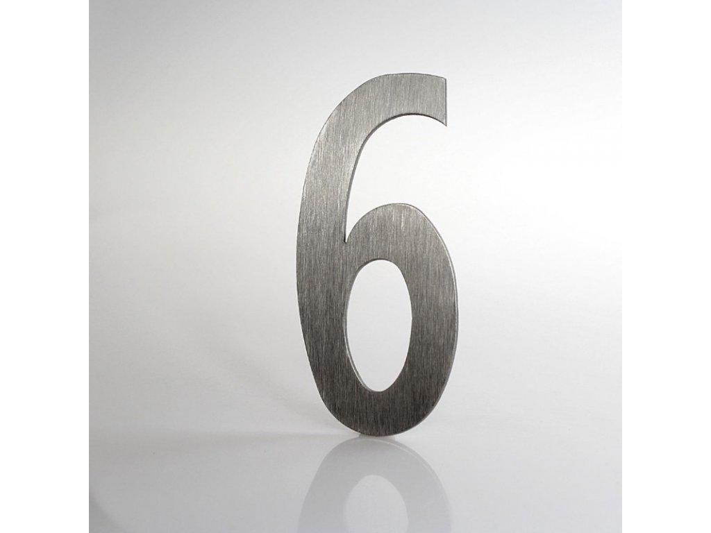 KATEON DCN2KL06 Lucida č. 6 Domovní číslo popisné, nerez
