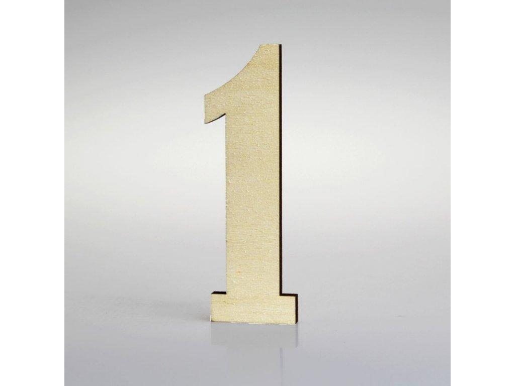 KATEON DCDPB101 Belwe 1 Domovní číslo popisné, dřevo