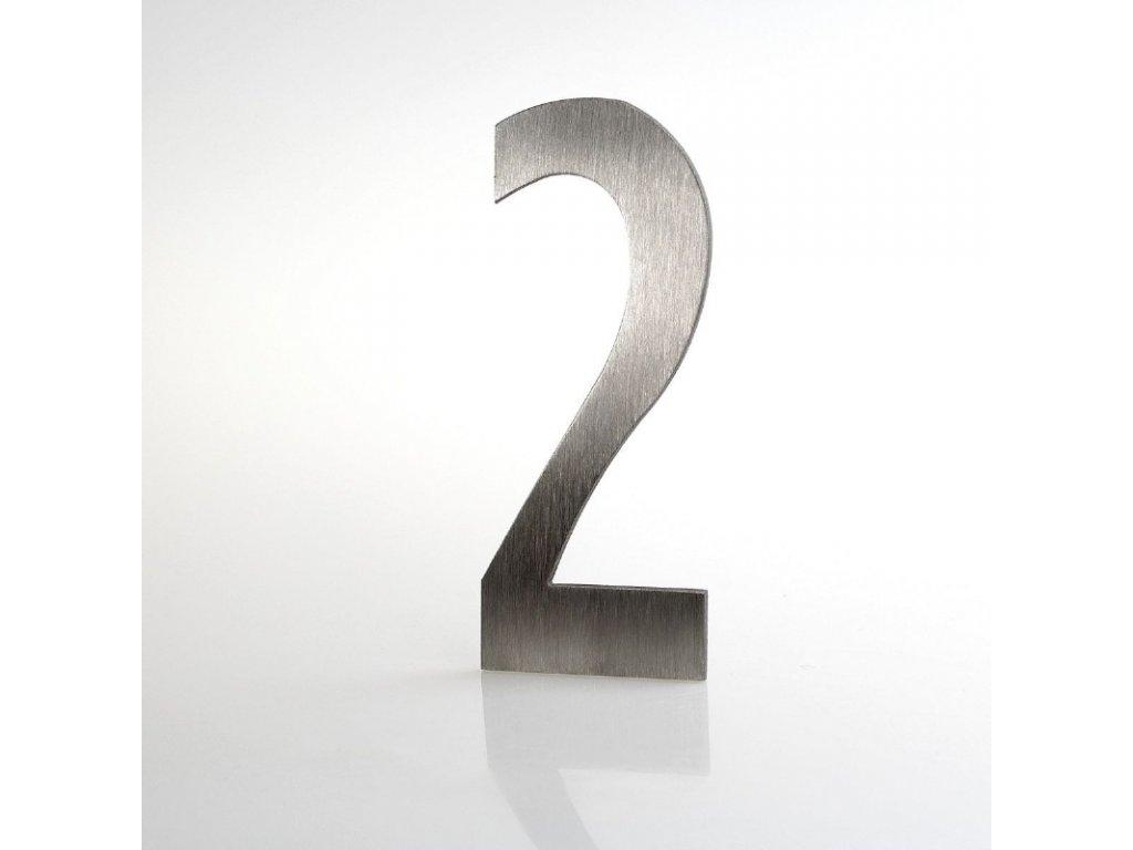 KATEON DCN2KL02 Lucida č. 2 Domovní číslo popisné, nerez