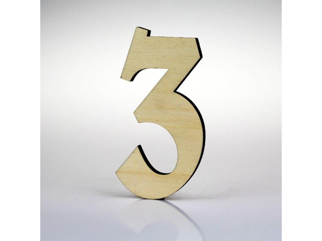 KATEON DCDPB103 Belwe 3 Domovní číslo popisné, dřevo