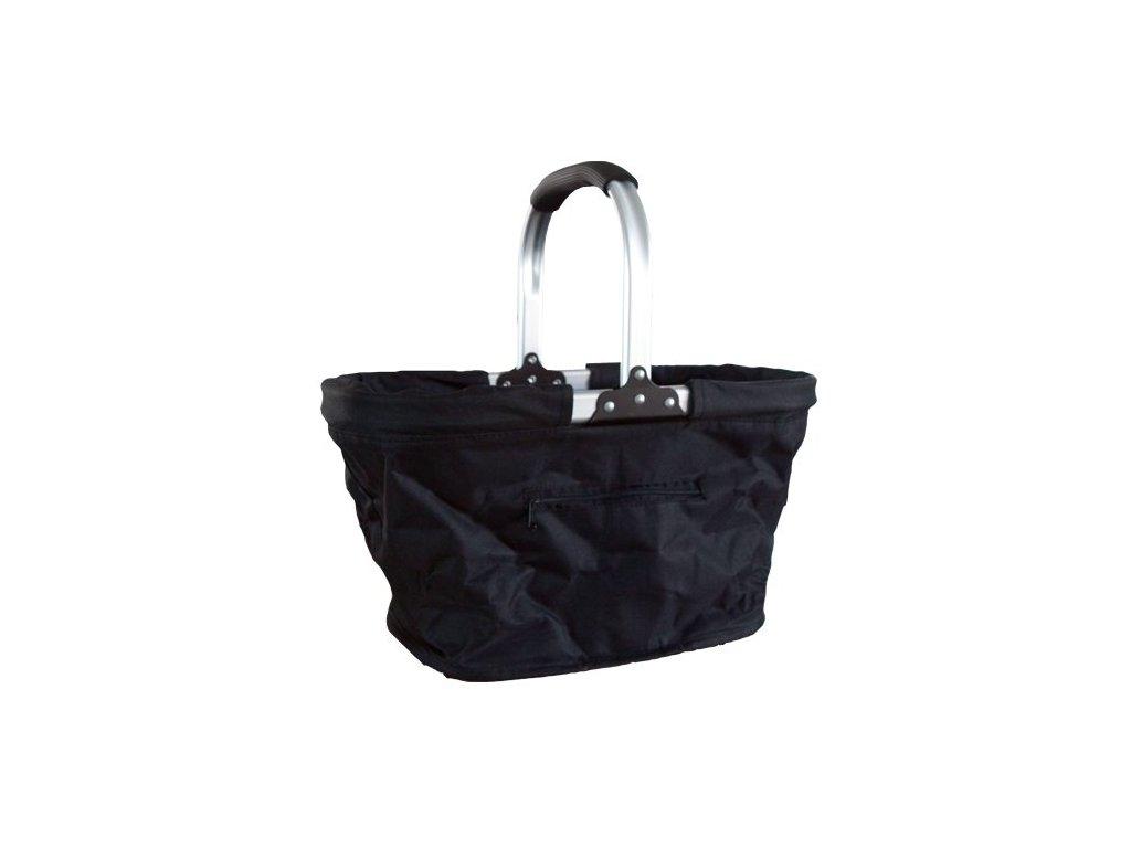 Košík nákupní skládací plátěný černý