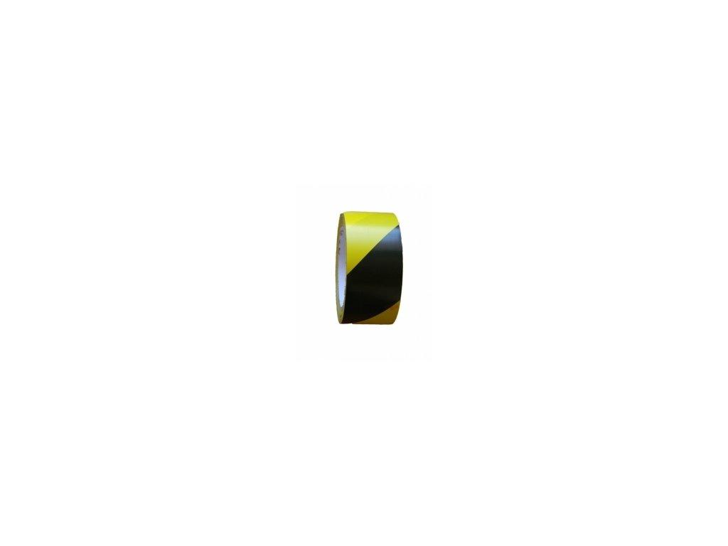 Lepící páska žlutočerná 50