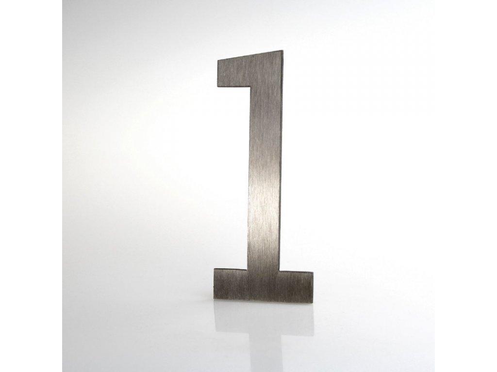 KATEON DCN2KL01 Lucida č. 1 Domovní číslo popisné, nerez