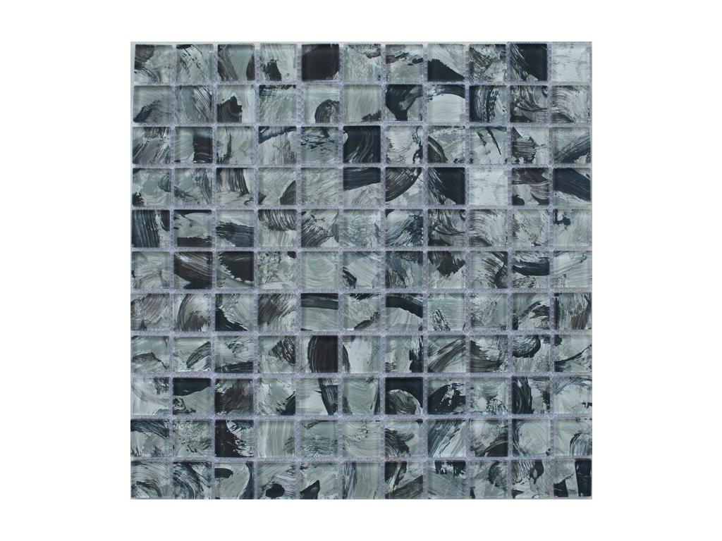Maxwhite JSM-CH016 Mozaika skleněná, šedá, černá 29,7 x 29,7 cm