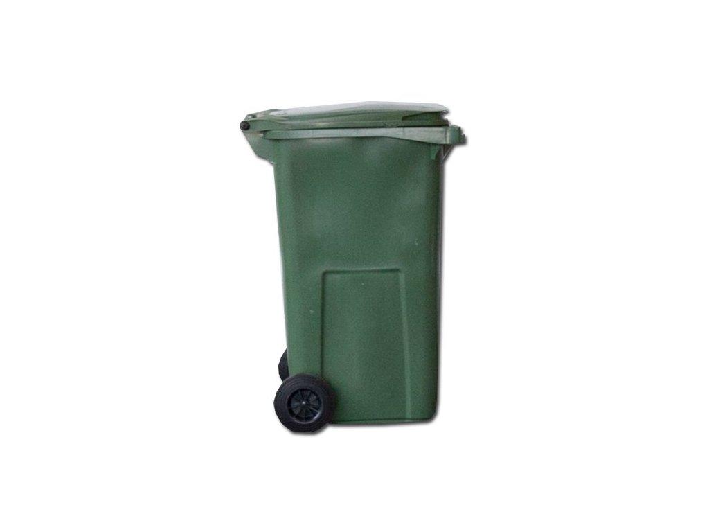 Contenur Popelnice 240 l plastová s kolečky, zelená