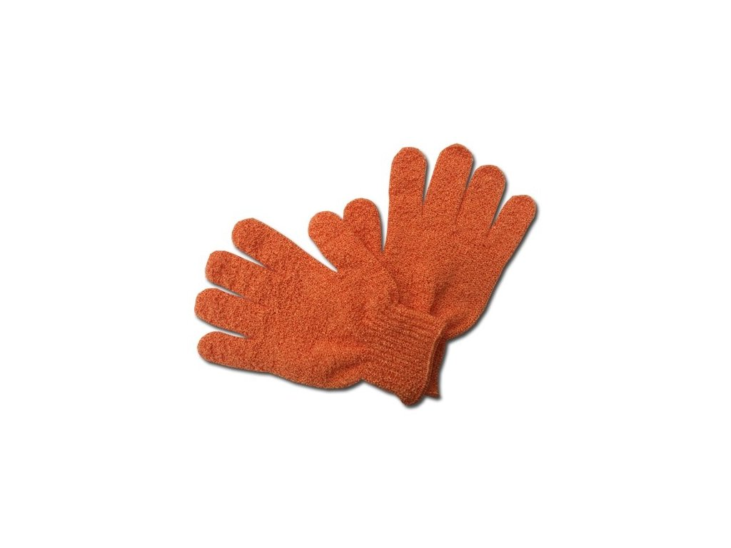 Max SPA Peelingové rukavice masážní oranžové