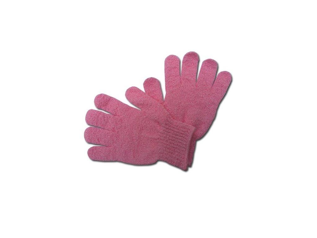 Max SPA Peelingové rukavice masážní růžové