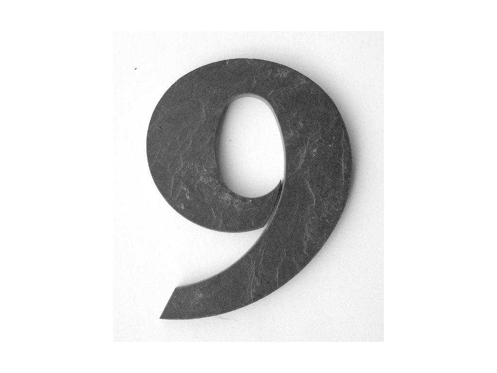 KATEON DCBCF09 france 9 Domovní číslo popisné břidlice