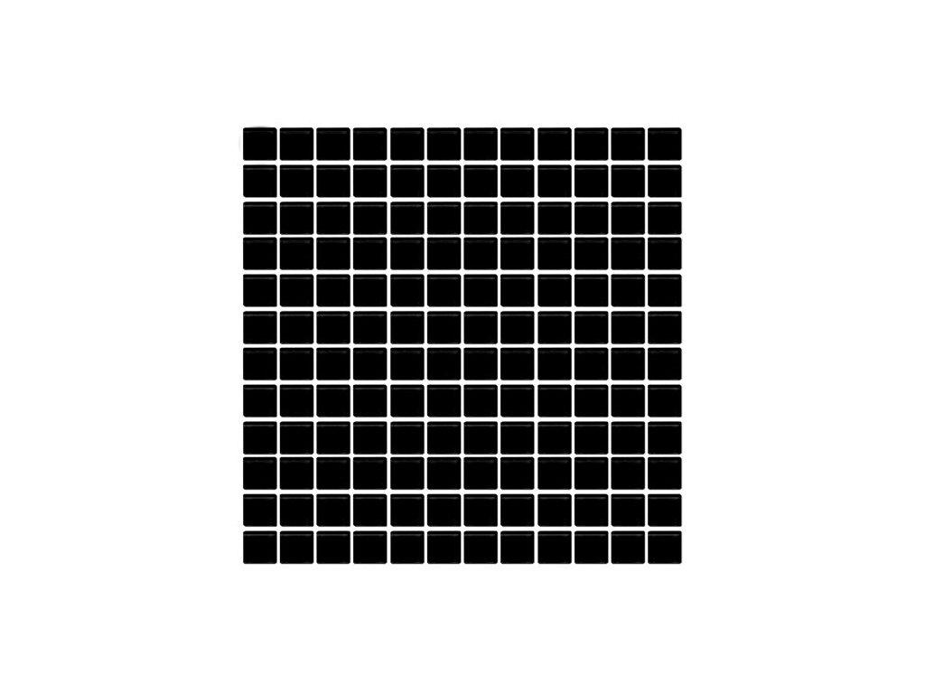 Maxwhite H37 Mozaika skleněná černá antracit 29,7x29,7cm