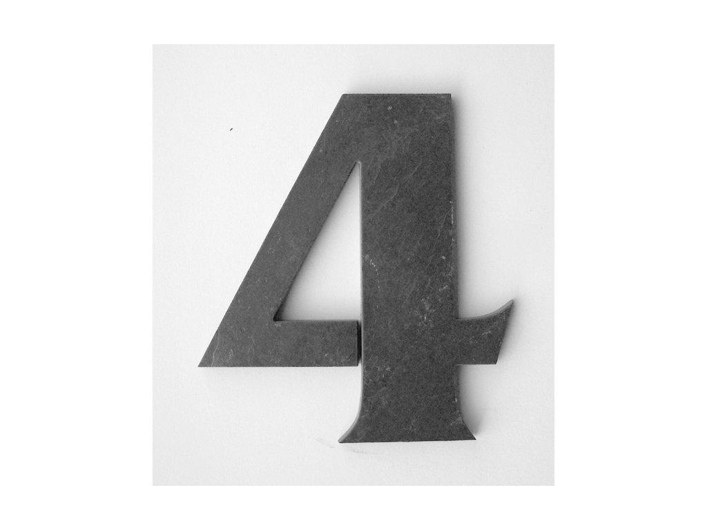 KATEON DCBCF04 France 4 Domovní číslo popisné břidlice