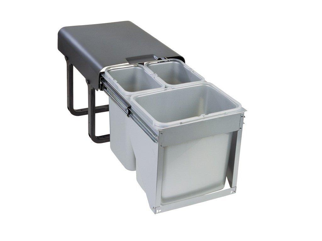 Sinks EK9022 EKKO FRONT 40 Odpadkový koš - sorter, vestavný, výsuvný 2x16l