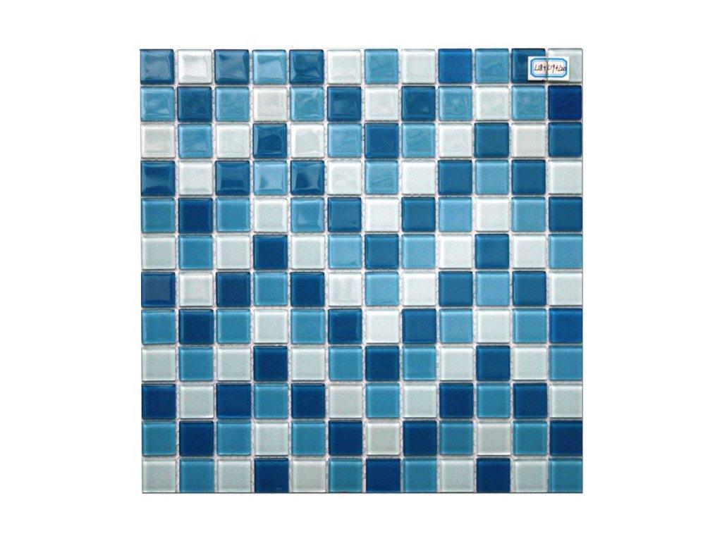 Maxwhite L18 plus L19 plus L20 Mozaika skleněná modrá bílá modrá světlá 29,7x29,7cm