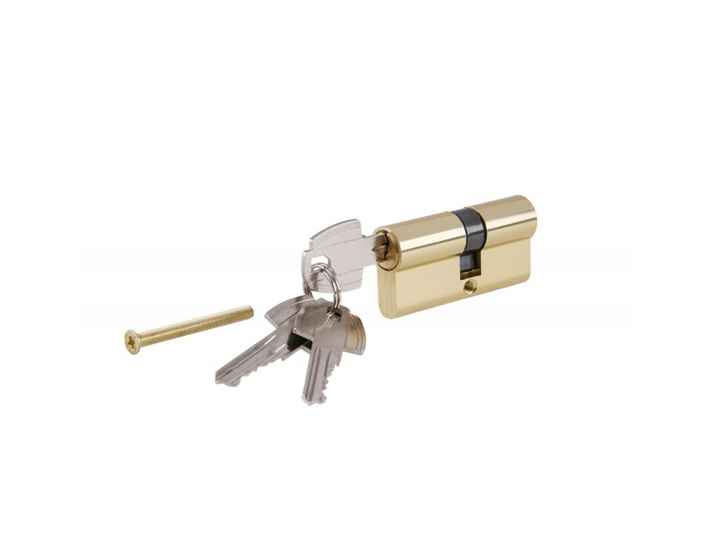 Levior Mosazná fabka do dveří 65mm + 3 klíče