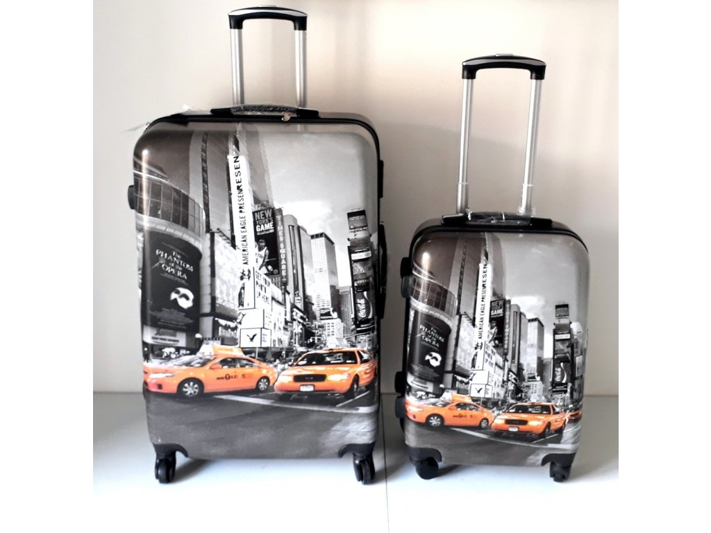 HUKA A29tx NY Taxi kufr skořepinový cestovní ABS set 3ks
