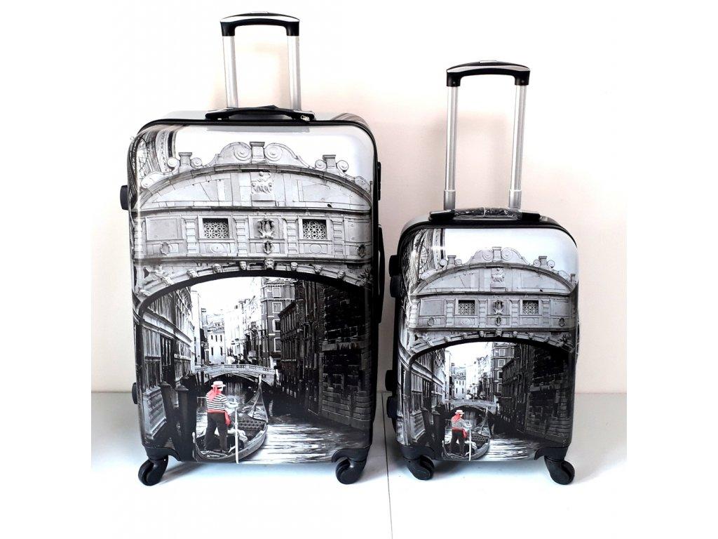 HUKA A29vc Benátky kufr skořepinový cestovní ABS set 3ks