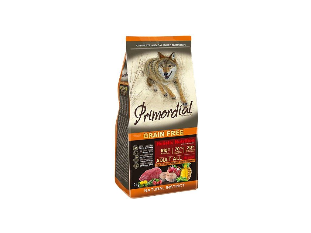 PRIMORDIAL Dog Adult Buffalo & Mackerel granule 12 kg