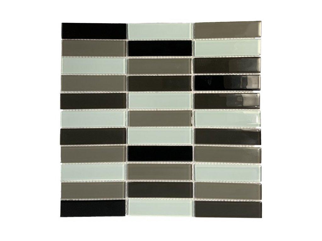 Maxwhite ASHS5-3 Mozaika skleněná černá šedá bílá 29,7x29,7cm