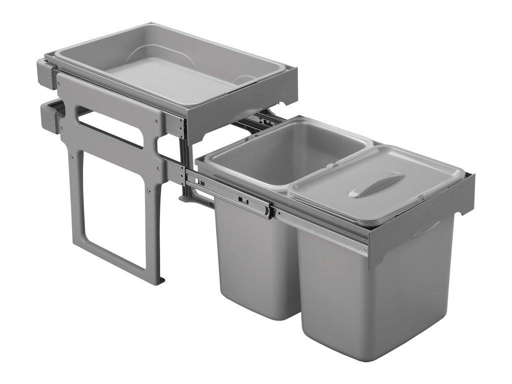 Sinks EK9093 TANK 40 Odpadkový koš - sorter, vestavný, výsuvný 2x16l