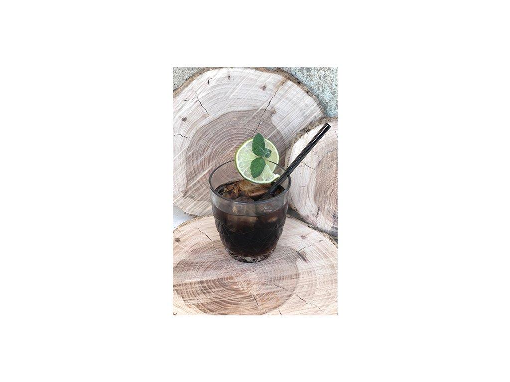 HUKA Brčko nerezové koktejlové 16cm x 6mm, černé