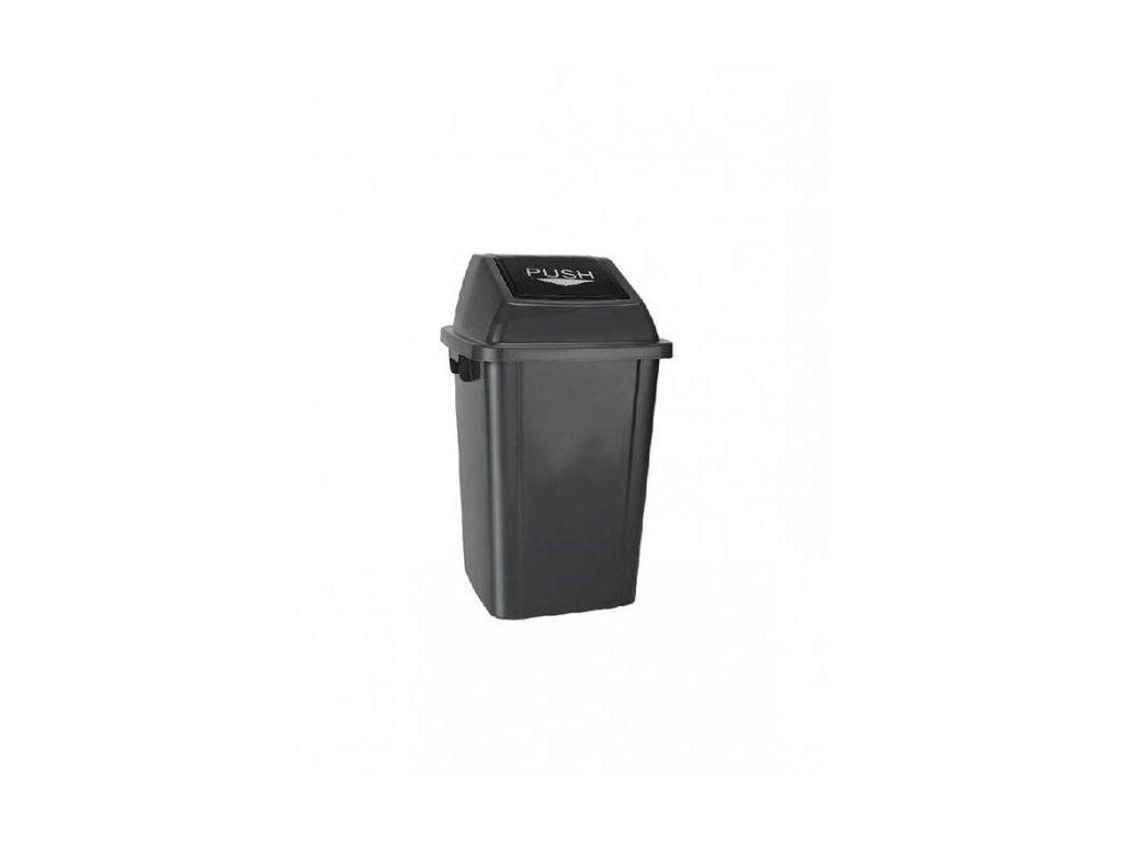 Max D40G koš na odpadky s víkem 40l