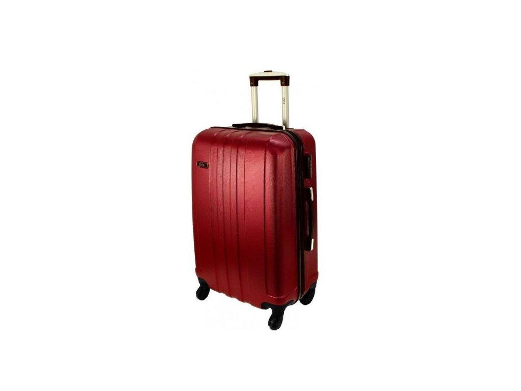 RGL 740-3 Cestovní skořepinový kufr MALÝ 39l, vínový